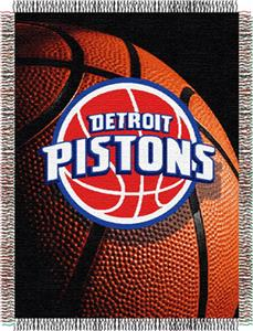 "Northwest NBA Detroit Pistons 48""x60"" Throw"