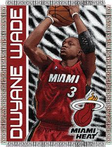 "Northwest NBA Miami Heat Dwayne Wade 48""x60"" Throw"