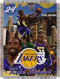 "Northwest NBA LA Lakers Kobe Bryant 48""x60"" Throw"
