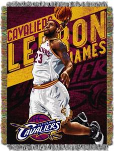 Northwest NBA Miami Heat Lebron James 48x60 Throw