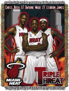 "Northwest NBA Heat Triple Threat 48""x60"" Throw"