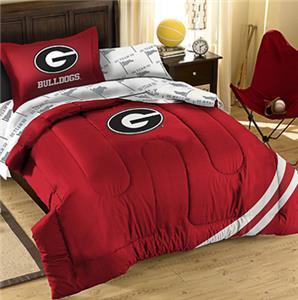 Northwest NCAA Georgia Twin Bed in Bag Set