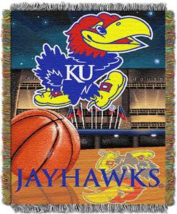 Northwest NCAA Univ. of Kansas HFA Tapestry Throw