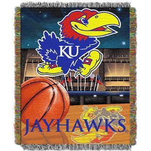 Northwest NCAA Univ. of Kansas HFA Tapestry Throw