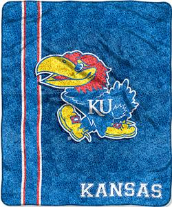 Northwest NCAA Univ. of Kansas Jersey Sherpa Throw