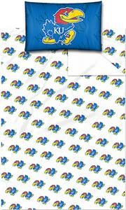 Northwest NCAA Univ. of Kansas Twin Sheet Set