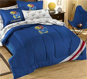 Northwest NCAA Univ. of Kansas Full Bed in Bag Set