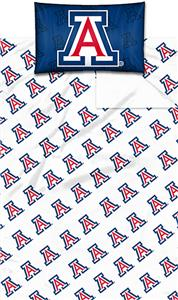 Northwest NCAA Univ. of Arizona Twin Sheet Set