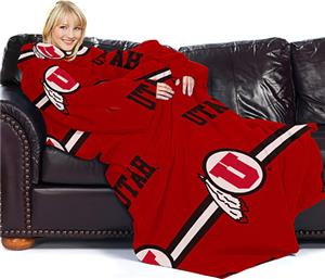 Northwest NCAA Univ. of Utah Comfy Throw (Stripes)