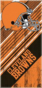 NFL Cleveland Browns Diagonal Beach Towels