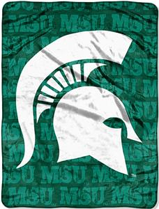 Northwest NCAA Michigan State Grunge Raschel Throw