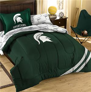 Northwest NCAA Michigan State Twin Bed in Bag Set