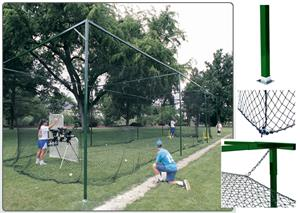 ATEC Free-Standing Baseball Batting Cage 54' & 70'