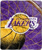 "Northwest NBA LA Lakers 50""x60"" Sherpa Throw"