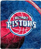 "Northwest NBA Detroit Pistons 50""x60"" Sherpa Throw"