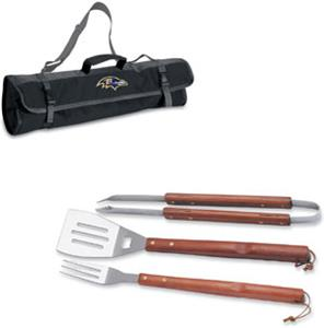 Picnic Time NFL Baltimore Ravens BBQ Set w/Tote