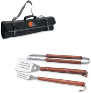 Picnic Time NFL Cleveland Browns BBQ Set w/Tote