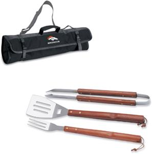 Picnic Time NFL Denver Broncos BBQ Set w/Tote