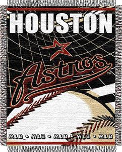 "Northwest MLB Astros 48""x 60"" Triple Woven Throw"