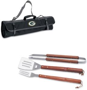 Picnic Time NFL Green Bay Packers BBQ Set w/Tote