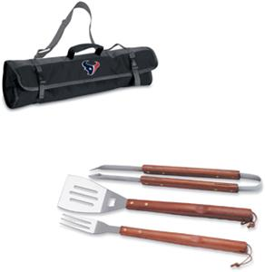 Picnic Time NFL Houston Texans BBQ Set w/Tote