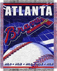 "Northwest MLB Braves 48""x 60"" Triple Woven Throw"