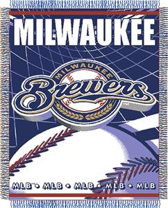 "Northwest MLB Brewers 48""x 60"" Triple Woven Throw"