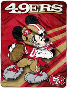 "Northwest NFL San Francisco 49ers 60"" Mickey Throw"