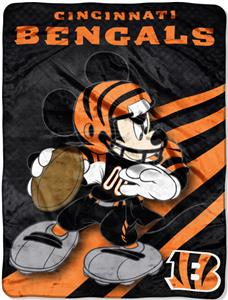 "Northwest NFL Cincinnati Bengals 60"" Mickey Throws"