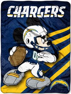 "Northwest NFL San Diego Chargers 60"" Mickey Throws"