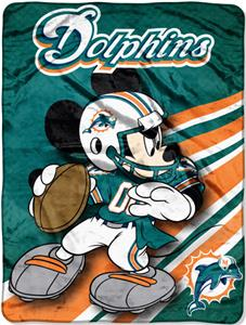 "Northwest NFL Miami Dolphins 60"" Mickey Throws"