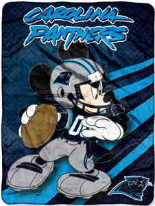 "Northwest NFL Carolina Panthers 60"" Mickey Throws"