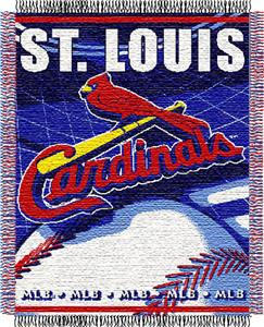 "Northwest MLB Cardinals 48""x60"" Triple Woven Throw"