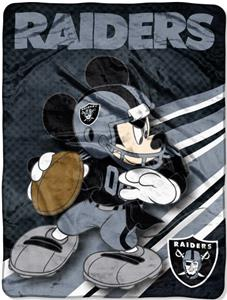 "Northwest NFL Oakland Raiders 60"" Mickey Throws"