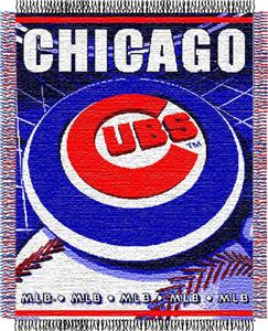 "Northwest MLB Cubs 48""x 60"" Triple Woven Throw"