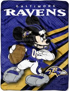 "Northwest NFL Baltimore Ravens 60"" Mickey Throws"