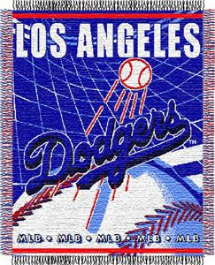 "Northwest MLB Dodgers 48""x 60"" Triple Woven Throw"