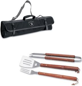 Picnic Time NFL Oakland Raiders BBQ Set w/Tote