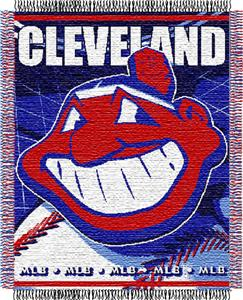 "Northwest MLB Indians 48""x 60"" Triple Woven Throw"