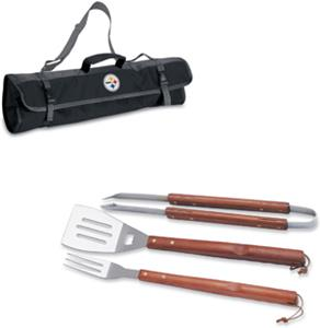 Picnic Time NFL Pittsburgh Steelers BBQ Set w/Tote