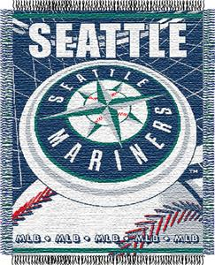 "Northwest MLB Mariners 48""x 60"" Triple Woven Throw"