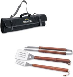 Picnic Time NFL San Diego Chargers BBQ Set w/Tote