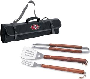 Picnic Time NFL San Francisco 49ers BBQ Set w/Tote