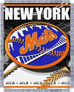 "Northwest MLB Mets 48""x 60"" Triple Woven Throw"