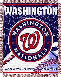 "Northwest MLB Nationals 48""x60"" Triple Woven Throw"