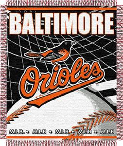 "Northwest MLB Orioles 48""x 60"" Triple Woven Throw"
