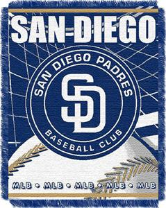 "Northwest MLB Padres 48""x 60"" Triple Woven Throw"
