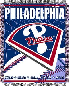 "Northwest MLB Phillies 48""x 60"" Triple Woven Throw"