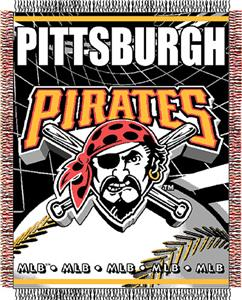 "Northwest MLB Pirates 48""x 60"" Triple Woven Throw"