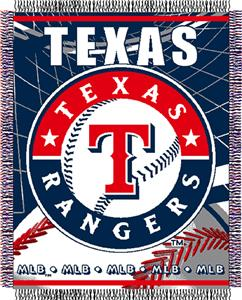 "Northwest MLB Rangers 48""x 60"" Triple Woven Throw"